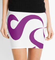 SheeArtworks Spiral Purple - Shee Vector Shape Mini Skirt