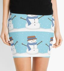 Cute Snowman Winter Wonderland Mini Skirt