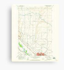 USGS Topo Map Washington State WA Ellensburg North 241010 1958 24000 Canvas Print