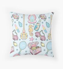 Mermaid Vibes Throw Pillow
