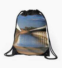 Between the Bridges at Barwon Heads, Victoria Drawstring Bag