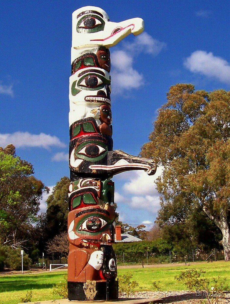 Quot Tsimshian Totem Pole Quot By Brita Lee Redbubble