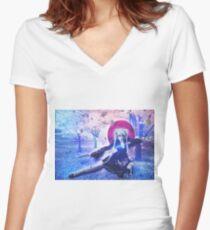 Sweet Samurai Women's Fitted V-Neck T-Shirt