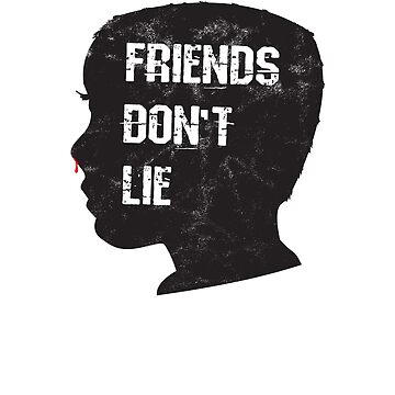 Friends Don't Lie:  Head Silhouette Art by BudinInnovation