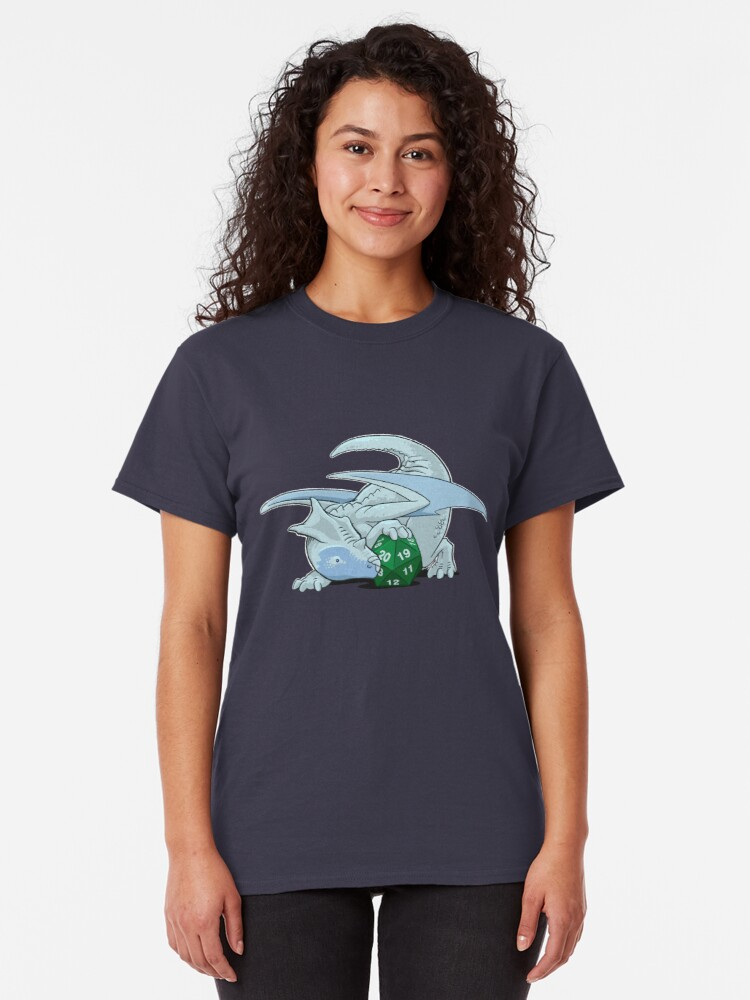 Alternate view of D20 White Dragon Classic T-Shirt