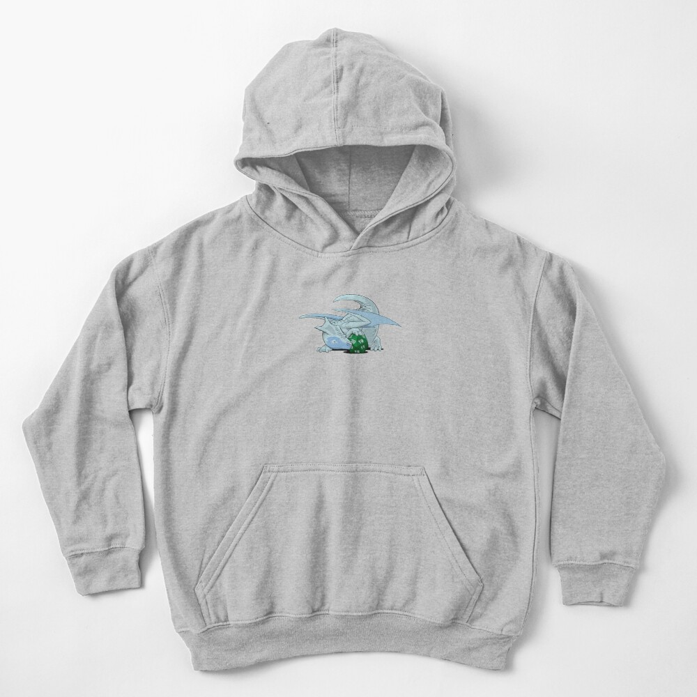 D20 White Dragon Kids Pullover Hoodie