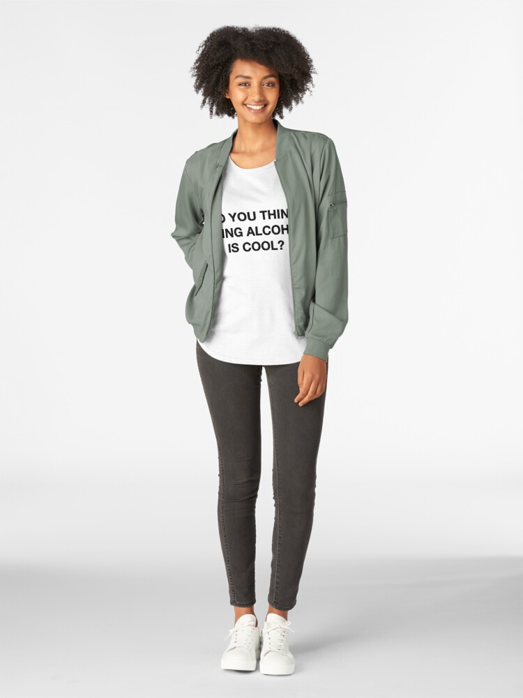 Alternate view of Do you think doing alcohol is cool? The Office Quote Premium Scoop T-Shirt