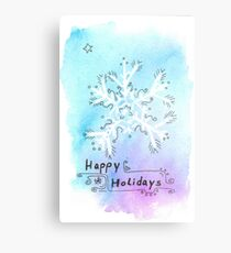 Watercolor Snow Flake Metal Print