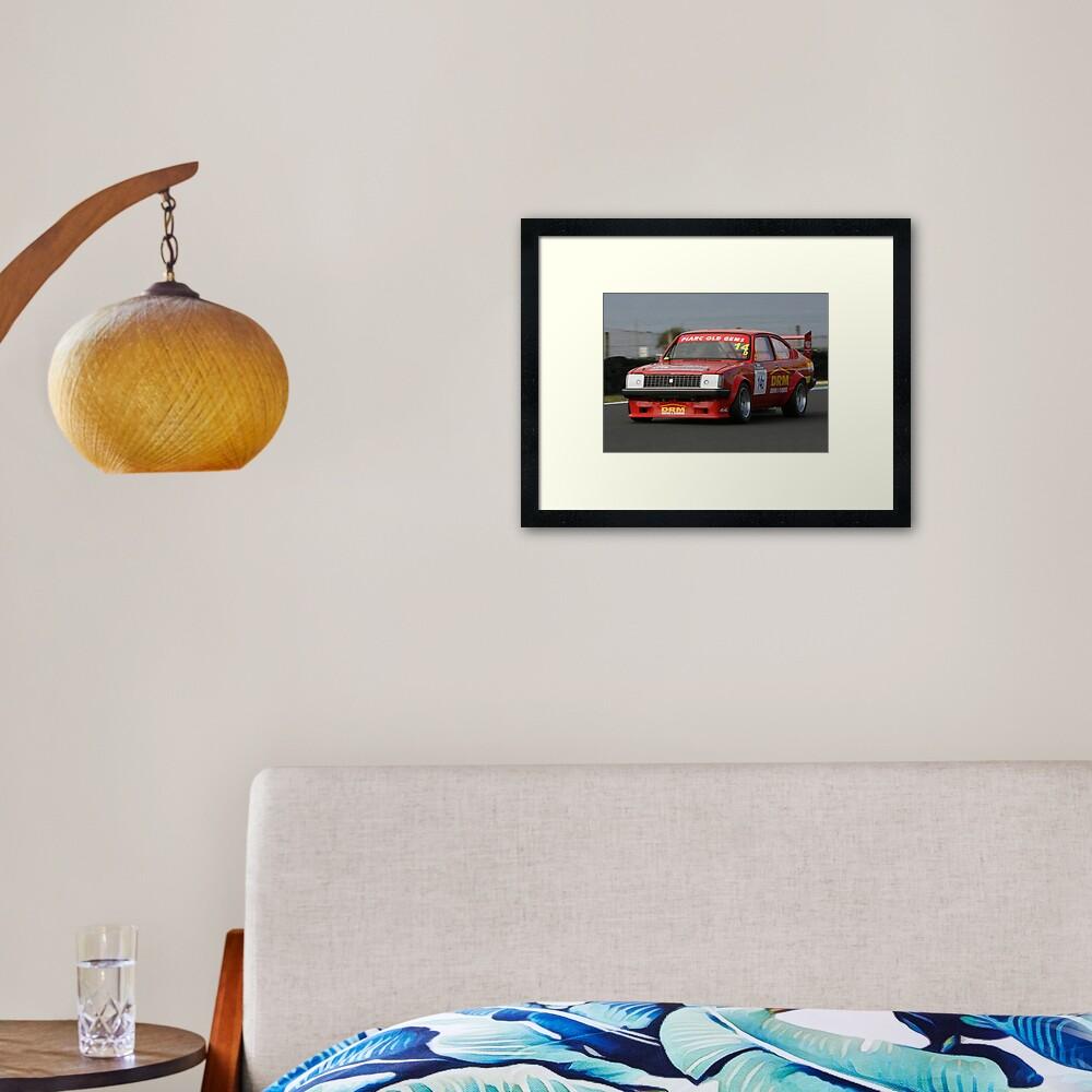 Racing Red Gem Framed Art Print
