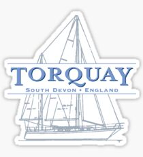Torquay Sailboat Sticker
