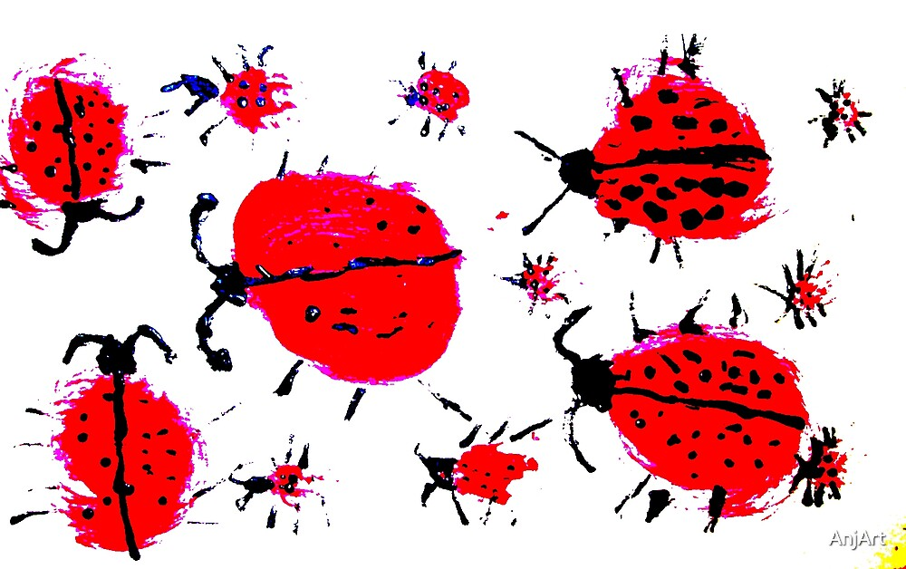 LadyBug Picnic by AnjArt