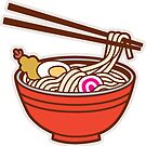 Udon Noodles Sticker by DetourShirts