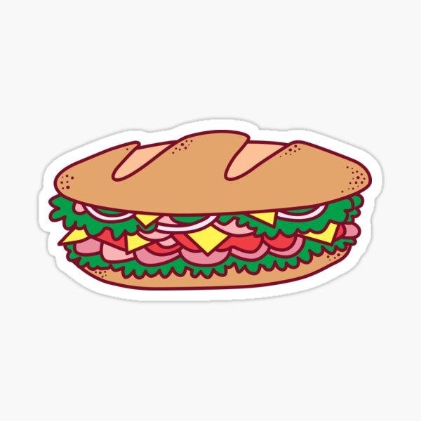 Deli Sandwich Sticker Sticker