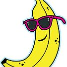 Cool Banana Sticker by DetourShirts