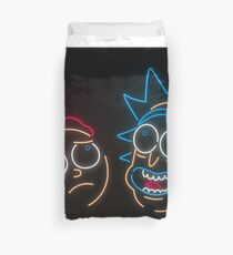 We're Neon Morty Duvet Cover