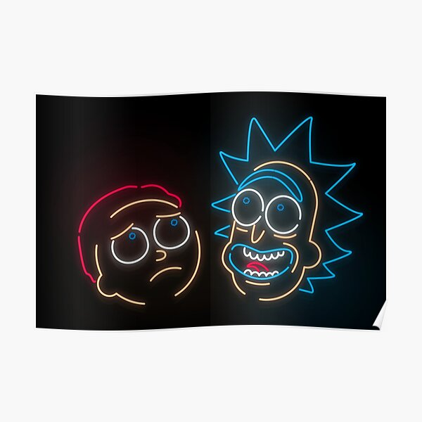 We're Neon Morty Poster