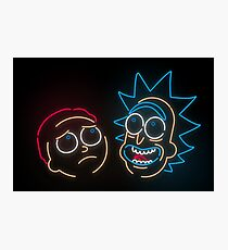 We're Neon Morty Photographic Print