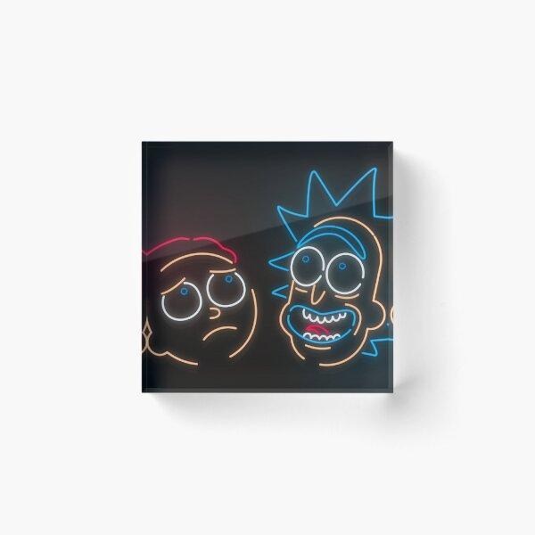 We're Neon Morty Acrylic Block