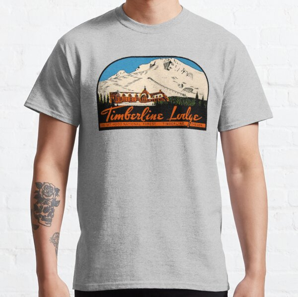Timberline Lodge Vintage Travel Decal Classic T-Shirt