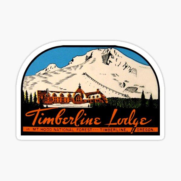 Timberline Lodge Vintage Travel Decal Sticker