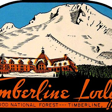 Timberline Lodge Vintage Travel Decal de hilda74