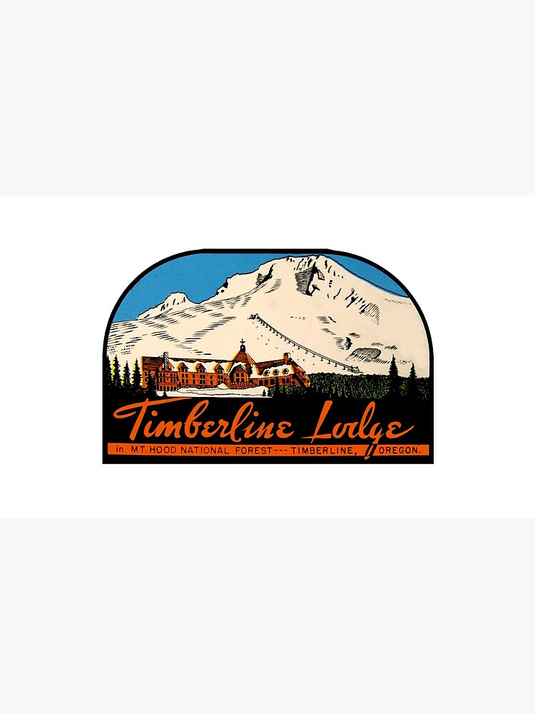 Timberline Lodge Vintage Travel Decal by hilda74