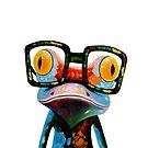 Hipster Frog Nerd Glasses by hilda74