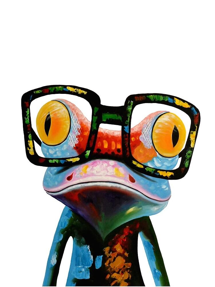 Hipster Frog Nerd Brille von hilda74