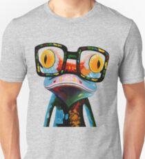 Hipster Frog Nerd Glasses Unisex T-Shirt