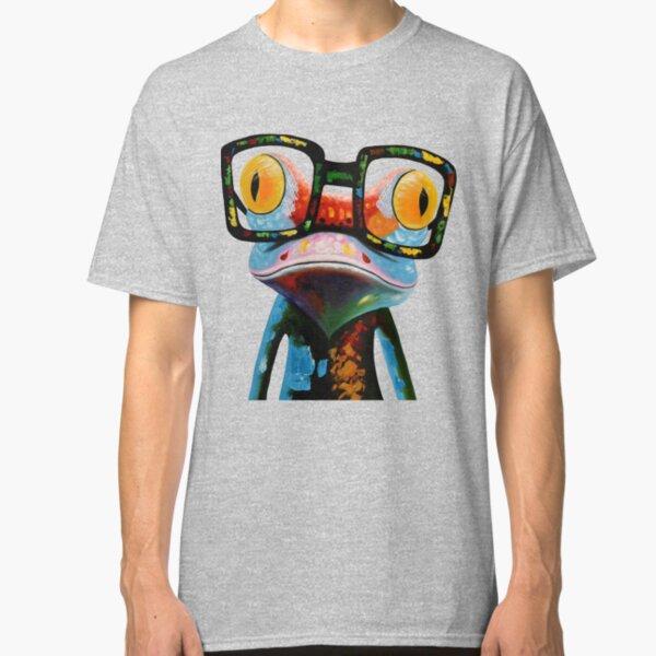 Hipster Frog Nerd Glasses Classic T-Shirt