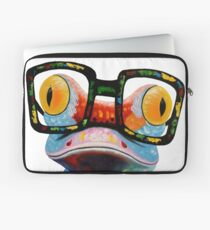 Hipster Frog Nerd Glasses Laptop Sleeve