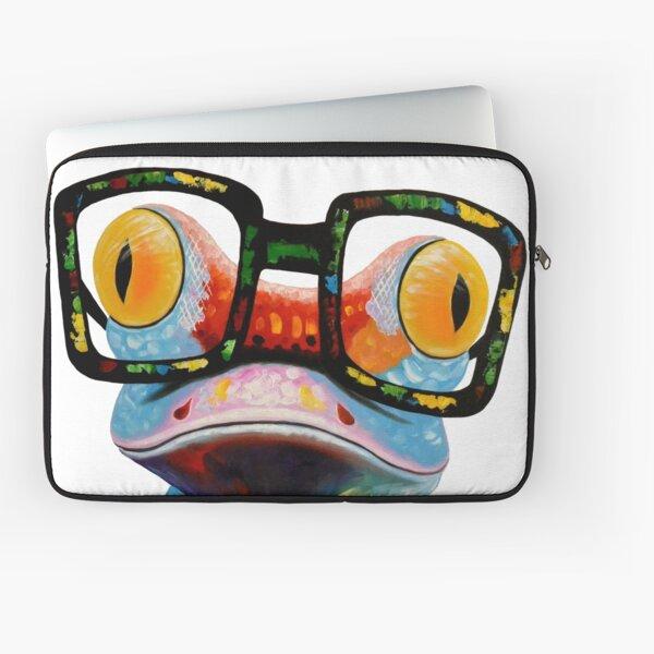 Hipster Frog Nerd Glasses Laptop Sleeve