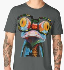 Hipster Frog Nerd Glasses Men's Premium T-Shirt