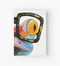 Hipster Frog Nerd Glasses Hardcover Journal