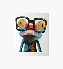 Hipster Frog Nerd Glasses Art Board