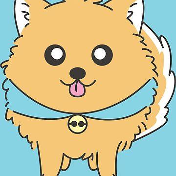 Yellow Pomeranian by artbyguenther