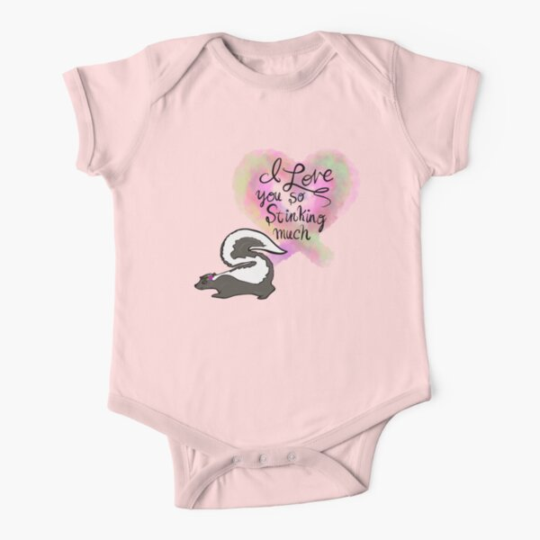 Stinking Adorable Baby Skunk Short Sleeve Baby One-Piece