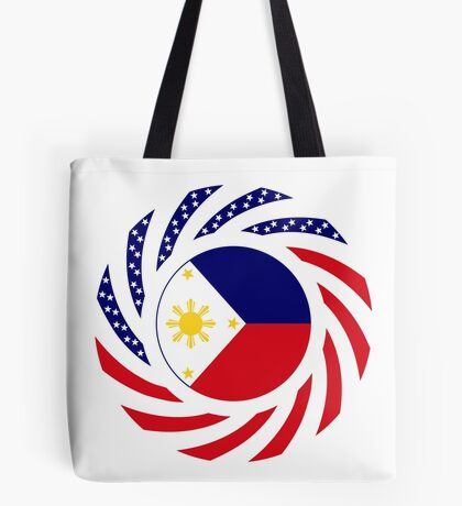 Filipino American Multinational Patriot Flag Series  Tote Bag