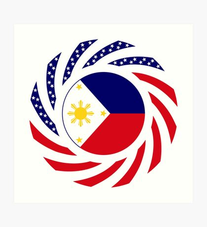 Filipino American Multinational Patriot Flag Series  Art Print