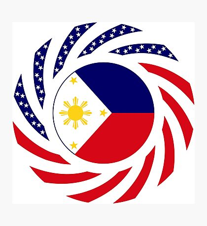 Filipino American Multinational Patriot Flag Series  Photographic Print