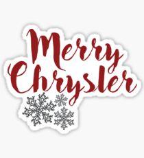 Merry Chrysler sticker Sticker