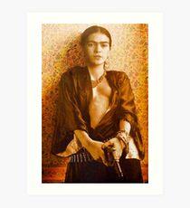 Frida Kahlo Pistol Art Print