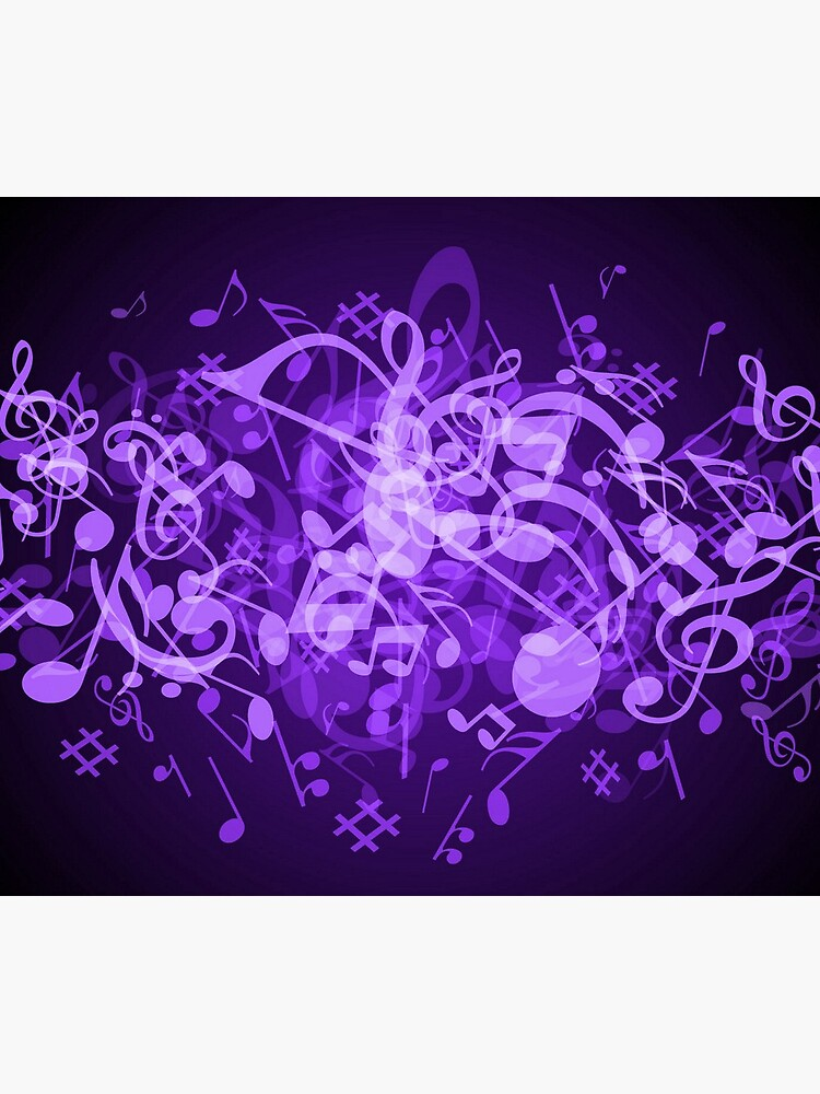 Purple Glow Music Notes by HavenDesign