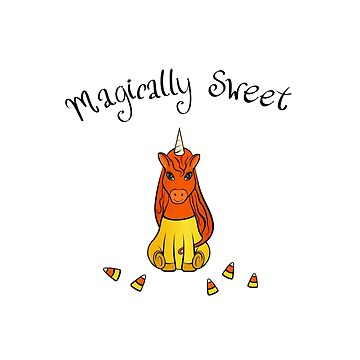 Sweet Candy Corn Unicorn  by HoneybethStudio