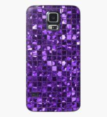 Sparkling Purple Mosaic Pattern Case/Skin for Samsung Galaxy