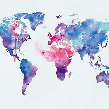 Map of the World by MonnPrint
