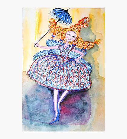 Venice Parasol Girl Photographic Print