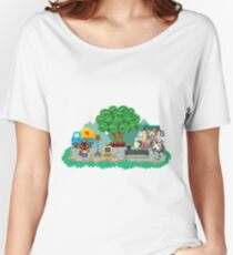 Animal Crossing Pocket Camp Market Place Women's Relaxed Fit T-Shirt
