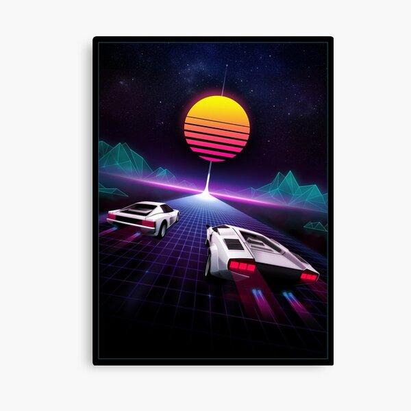 Neon Skyway Canvas Print