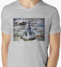 USS Texas Men's V-Neck T-Shirt
